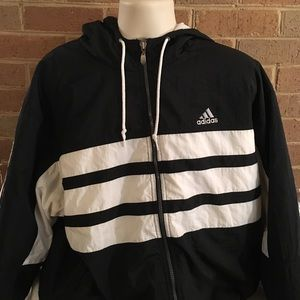 Vintage adidas full zip windbreaker jacket XL